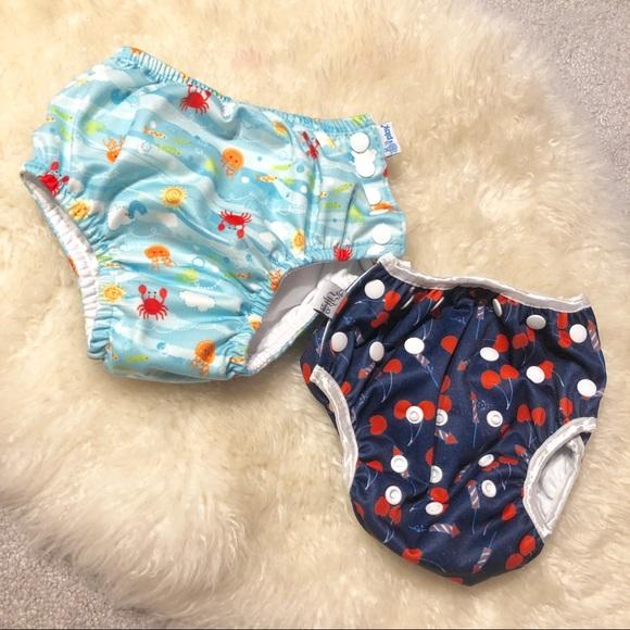 eb7c023082 I Play Swim | Set Of 2 Reusable Ming Diapers | Poshmark